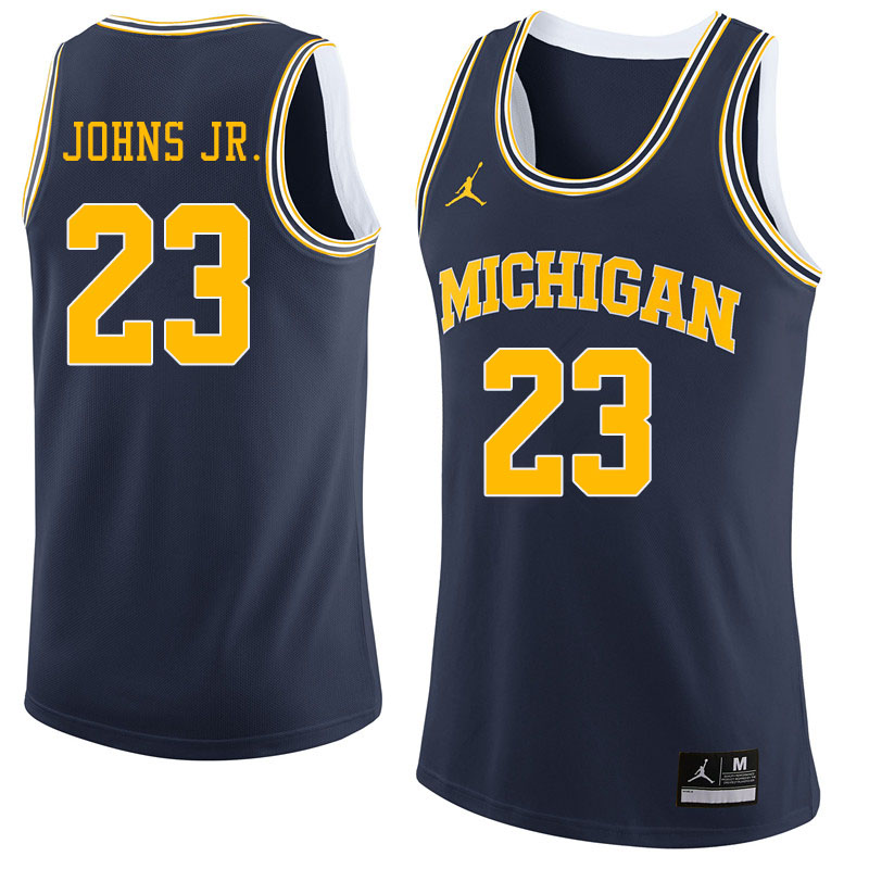 Jordan Brand Men #23 Brandon Johns Jr. Michigan Wolverines College Basketball Jerseys Sale-Navy