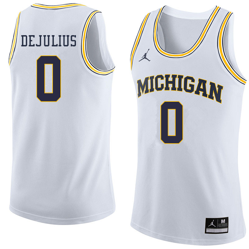 Jordan Brand Men #0 David DeJulius Michigan Wolverines College Basketball Jerseys Sale-White