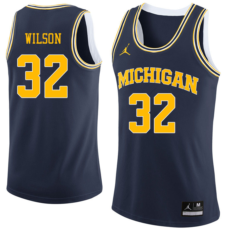 Jordan Brand Men #32 Luke Wilson Michigan Wolverines College Basketball Jerseys Sale-Navy