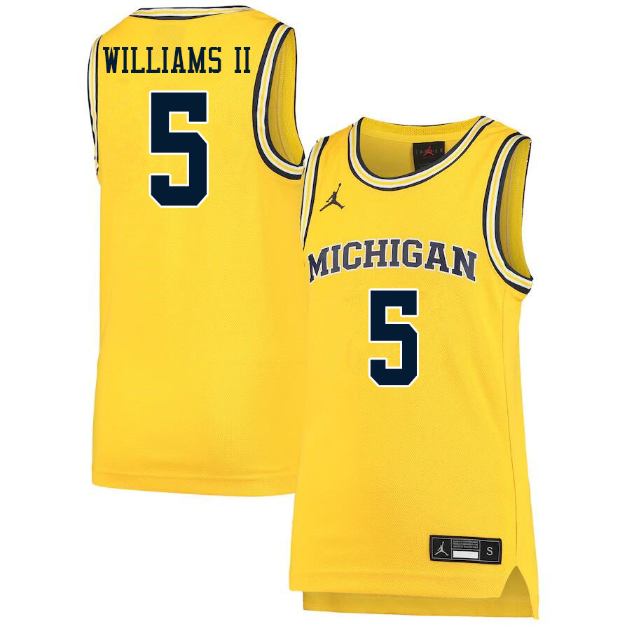 Men #5 Terrance Williams II Michigan Wolverines College Basketball Jerseys Sale-Yellow