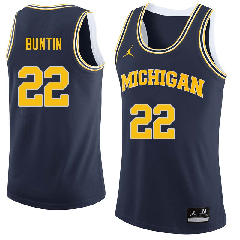 Men #22 Bill Buntin Michigan Wolverines College Basketball Jerseys Sale-Navy