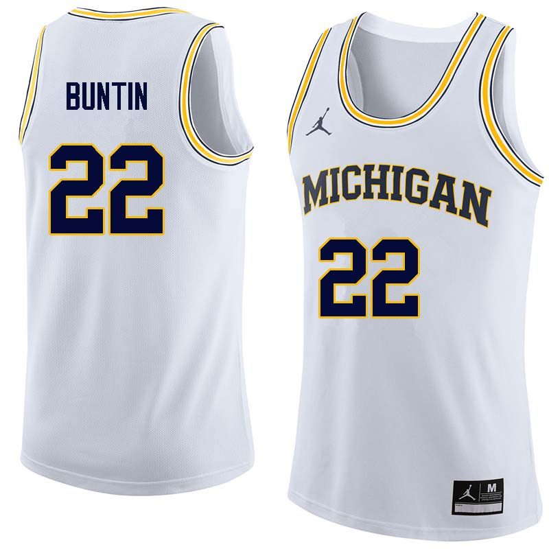 Men #22 Bill Buntin Michigan Wolverines College Basketball Jerseys Sale-White