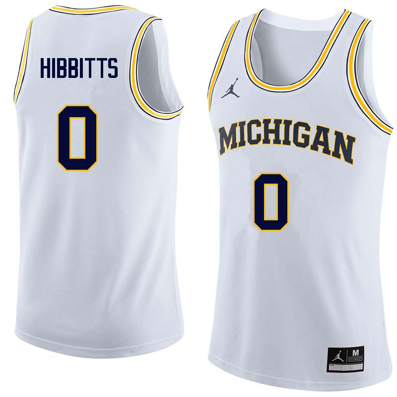 Men #0 Brent Hibbitts Michigan Wolverines College Basketball Jerseys Sale-White