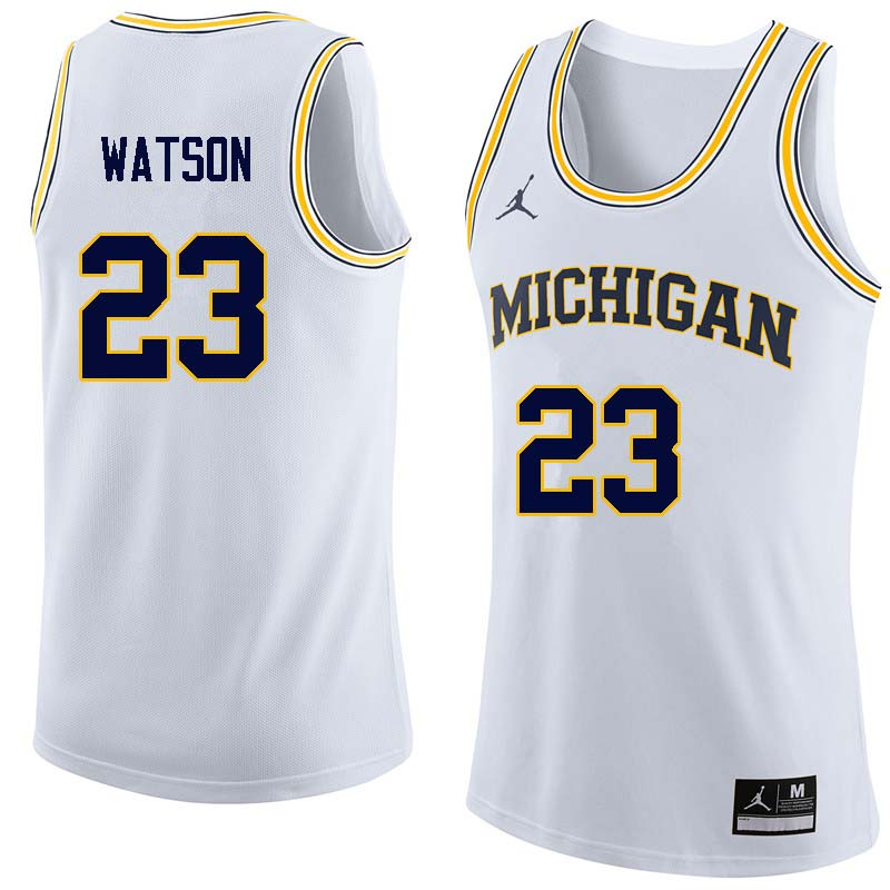 Men #23 Ibi Watson Michigan Wolverines College Basketball Jerseys Sale-White